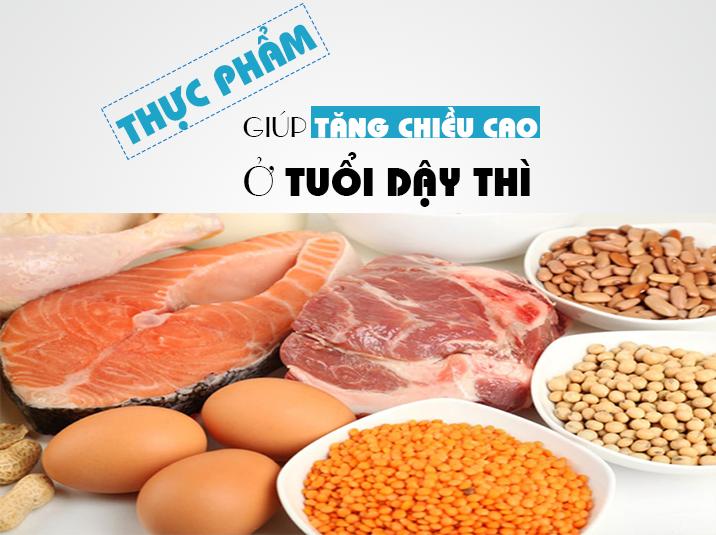 thuc pham phat trien chieu cao cho tuoi day thi